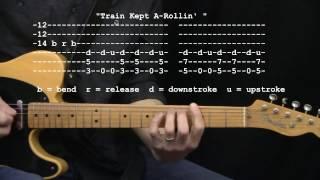 """Train Kept A-Rollin'"" by Aerosmith / Johnny Burnette : 365 Riffs For Beginning Guitar !!"