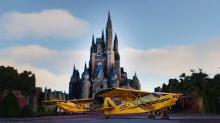 Landing in Disney World! Magic Kingdom, Epcot, and More! - New Flight Simulator (Multiplayer)