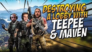DESTROYING A LOBBY WITH TEEPEE & MAVEN!!