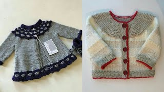 Stunning And Beautiful Hand Knitting Baby Sweaters Designs