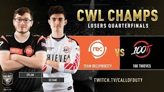 Team Reciprocity vs 100 Thieves | CWL Champs 2019 | Day 5