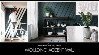 A Modern DIY Moulding Accent Wall | How To Install A Moulding Feature Wall