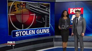 Thieves target guns left in vehicles
