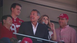 DWIGHT CLARK:  49ers hold emotional ceremony for Dwight Clark who is battling ALS