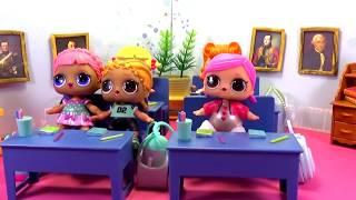 Куклы ЛОЛ LOL Surprise ПОСПАЛА НА УРОКЕ Школа #Игрушки #Сюрпризы Мультик видео для детей