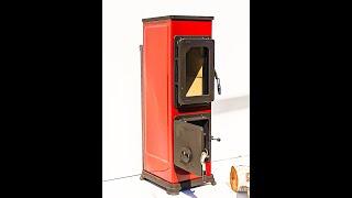 Отопительно варочная печь камин Bozen - черная ( кафельная печка, изразцовая печь, каминофен ). від компанії House heat - відео