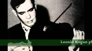 Leonid Kogan plays Kreisler Liebesleid