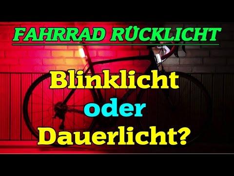 Fahrrad Rücklicht - Blinklicht oder Dauerlicht? Legal oder Illegal?