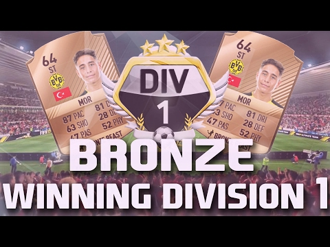 WINNING DIVISION 1 WITH A BRONZE TEAM #1 - FIFA 17 Ultimate Team