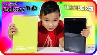 My New Samsung Galaxy Tab E! Kids Unboxing & Review - TigerBox HD
