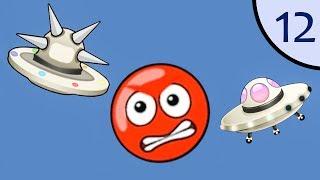 Новый Несносный КРАСНЫЙ ШАР #12. Летающие тарелки. Мультик ИГРА New Red Ball 2 на Игрули TV