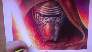 KYLO REN from Star Wars - Speed drawing by Alessandro Conti