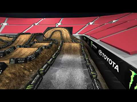 2019 Monster Energy Cup Track Map - Inside Left
