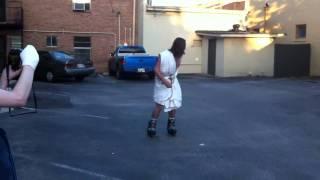 Jesus rollerblading Christ