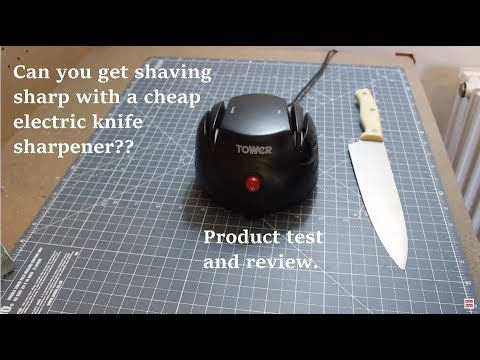 Review of the Tower Electric Knife Sharpener