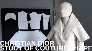 Christian Dior | Study Of Couture Shape Collar Part 2【Pattern Making / Draping/ Sewing / Vlog】