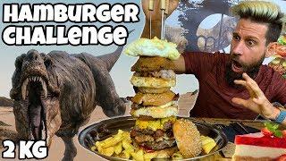 TREX BURGER Challenge (2KG) - Speed Challenge - MAN VS FOOD