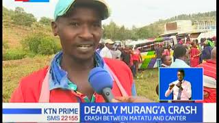 4 people have been confirmed dead in a road accident in Murang'a