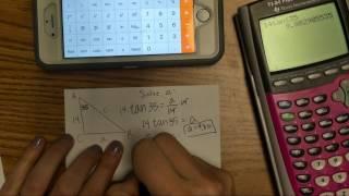 Phone Calculator Help using Trig