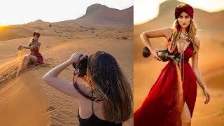 Natural Light Photoshoot in Dubai Desert, Behind The Scenes