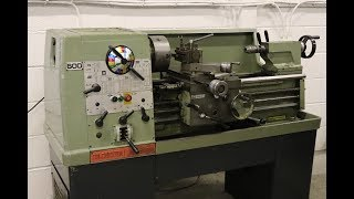 MY NEW OLD LATHE, COLCHESTER STUDENT 1800.
