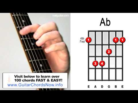 Ab Major - Guitar Chord Lesson - Easy Learn How To Play Bar Chords Tutorial