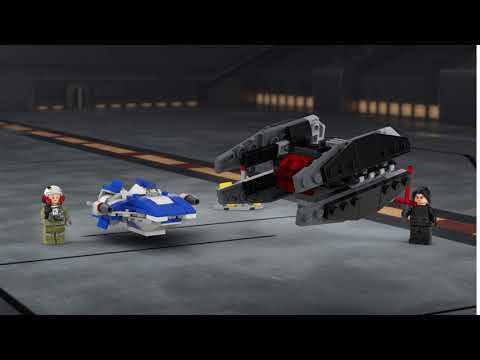 Vidéo LEGO Star Wars 75196 : Microfighter A-Wing vs. Silencer TIE