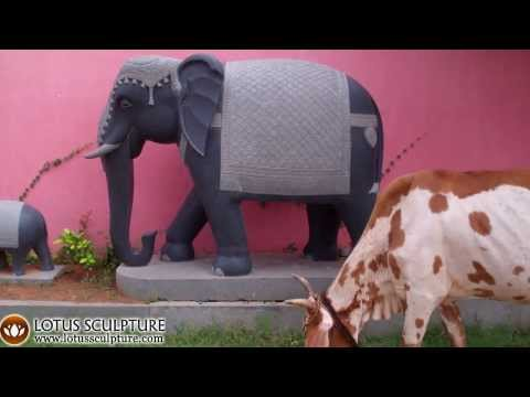 Stone Processional Elephant Statue 63