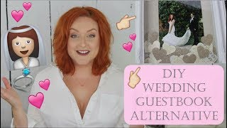 DIY ALTERNATIVE WEDDING GUESTBOOK | WEDDING GUESTBOOK DIY | SIRENA GRACE CELES