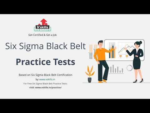Six Sigma Black Belt Practice Questions - YouTube
