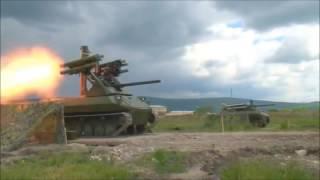 РУССКИЙ РОБОТ ''УРАН 9'' В СИРИИ ПРОВЕРКА БОЕМ ! боевые роботы россии в сирии ор
