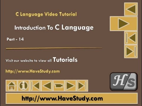 Introduction to C Language | Part 14