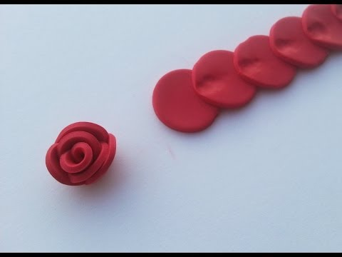 TUTORIAL: TECNICA ALTERNATIVA per fare ROSE in FIMO/ PASTA MODELLABILE