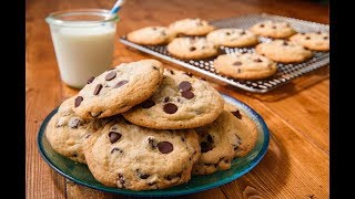 ingredients to make homemade chocolate chip cookies