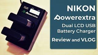 348 Powerextra - Dual LCD USB Battery Charger for Nikon EN-EL14 Nikon EN-EL14a - Review - VLOG