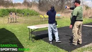 Action Pistol Match at Sandoval Range, Illinois - Shooter 3