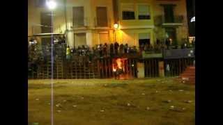 preview picture of video 'Toro embolado Plaza de Toros de Segorbe La Entrada de Toros y Caballos 9 09 12'
