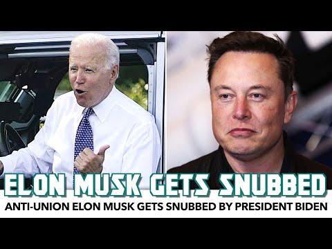 Anti-Union Elon Musk Gets Snubbed By Biden