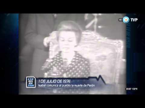Si te he visto no me acuerdo - Anuncio del fallecimiento de Perón - 30-11-15
