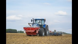 New Holland T7.315 HD Blue Power | Semis de couverts végétaux...
