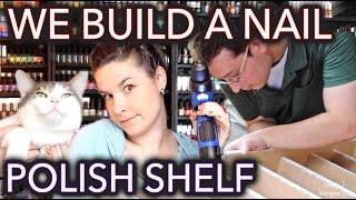 How to (sort of) build a nail polish shelf/rack