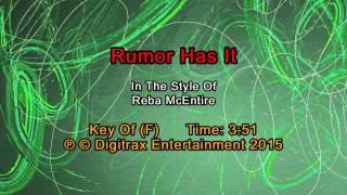 Reba McEntire - Rumor Has It (Backing Track)