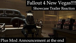 Fallout 4 New Vegas Video reaction plus Announcement for upcoming mod