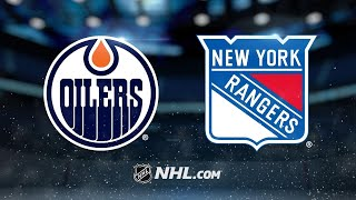 Nash Scores Twice As Rangers Defeat Oilers, 4-2
