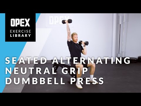 Seated Alternating Neutral Grip Dumbbell Press - OPEX Exercise Library
