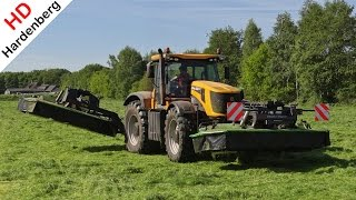 JCB Fastrac 8250 Vario | Mowing Grass With Triples | Gras Maaien | Deel 1 | Uddel | NL | 2014.