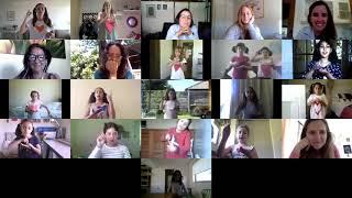 """Niñitas del taller Pop Dance representando la canción """"Color esperanza"""" en lengua de señas."""