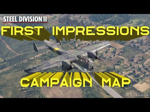 Steel Division 2 - A First Look - Campaign Map