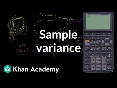 Sample variance (video) Khan Academy - sample variance