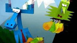 Бумажки - Грушевый компот 🍐🍐🍐 - серия 75 - прикольный мультфильм оригами для детей